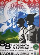 88^Adunata Nazionale. Alpini- L'AQUILA - 15-16-17 MAGGIO 2015- LOCANDINA.cm 35 X 25 Vedi Descrizione - Humour