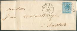 N°18 Obl. .LP 126 Sur Lettre De FLEMALLE  13 Oct 1868 Vers Hasselt Distillateur VANVINCKEROYE  - 11939 - 1865-1866 Profil Gauche