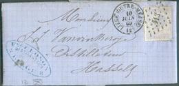 N°18 Obl. .LP 413 Sur Lettre De LIEGE (OUTRE-MEUSE) 10 Juin 1869 Vers Hasselt Distillateur VANVINCKEROYE  - 11940 - 1865-1866 Profile Left