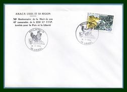 France Philatélie Ussel 10/6/ 1994  / N° 2876 Maquis Aigle Eagle ( 50é An. Des 47 Morts 236é Cie F.T.P.) - Águilas & Aves De Presa