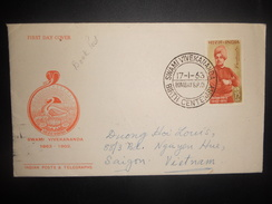 Inde , Premier Jour De Vivekananda 1963 De Bombay - FDC