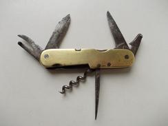 - RARE - Couteau. Canif - Ancien Couteau Multi Lames, Avec Roulette De Vitrier - PRADEL - - Knives
