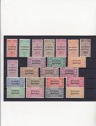 BELGIQUE  TIMBRES POUR BAGAGES 1/23 (SAUF 9)  MNH**  SUPERBES  COTE: 2470 EUROS - Bagages