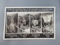 CPA PHOTO ETATS UNIS BOULDER CONSTRUCTION BARRAGE STAGES OF CONSTRUCTION IN THE BUILDING OF BOULDER DAM - Etats-Unis