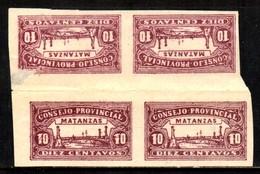 03480 Cuba Consejo Provincial De Matanzas Tete-beche Um Dos Selos Com Amenci NNN - Postage Due
