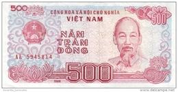 VIETNAM 500 ĐỒNG 1988 (1989) P-101a NEUF SMALL S/N [VN329a] - Vietnam