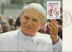 COSTA RICA VISIT Of POPE JOHN PAUL II, POST CARD Sc C904 FDC 1983 - Costa Rica