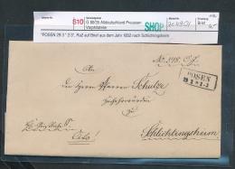 Preussen-Vorphila Beleg  Posen  ( Ze4954   ) Siehe Scan - Allemagne