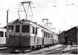 BDe 4/4 3002 Et 3004 à Montbovon 23.4.1966 Train  M.O.B. BVA - Stations - Met Treinen