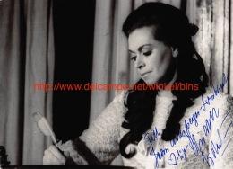 Elisabeth Soderstrom Opera Signed Photo 12,5x18cm - Autographes