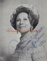 Renata Tebaldi Opera Signed Photo 17,5x22,5cm - Autographes