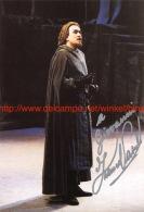 Franco Vassallo Opera Signed Photo 12x18cm - Autographes
