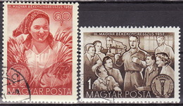 HUNGARY 1952 Mi 1279-1280 USED - Ungheria