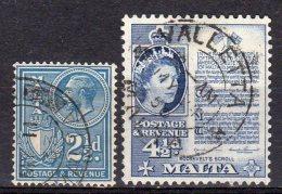 MALTA 2 STAMPS USED° See SCAN - Malta (...-1964)