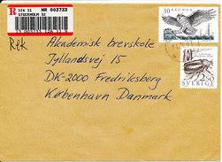 Sweden Registered Cover Sent To Denmark Stockholm 11-4-1991 - Sweden