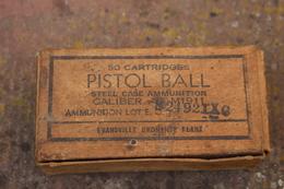 Boite Vide US Pour 50 Cartouches Calibre 45 - 1939-45