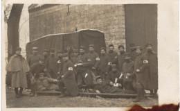 CARTE PHOTO MILITAIRE ... GROUPE SANITAIRE - Guerre 1914-18
