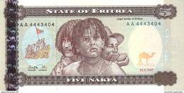 ERITREA 5 NAKFA 1997 P-2a NEUF [ ER102a ] - Eritrea