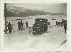 16 FÉVRIER 1931 CONCOURS D'APPAREIL CHASSE-NEIGE A MONT-LOUIS APPAREIL DEGIORGI SUR TRACTEUR LATIL  Y44 - Berufe