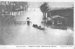 PARIS - INONDATIONS DE 1910 - Crue De La Seine : Barrière De L'Octroi - CPA - Seine - Paris Flood, 1910