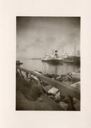 BATEAU A VAPEUR AU PORT 9X6,5cm - Boats