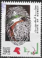 KUWAIT 1994 Martyrs' Day -  150f. - Fingerprint In National Colours FU - Kuwait