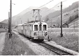 Train Pour La Lenk Quittant Boden 30.5.1971   M.O.B. BVA - Stations - Met Treinen