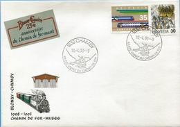 Enveloppe Du 25ème Anniversaire Blonay-chamby - Titres De Transport
