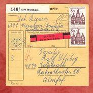 Paketkartenteil, Schnellpaket, MiF Bauten, Wernborn Nach Wickrath 1967 (38414) - BRD