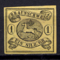 Germania Brunswick 1853 Unif. 7 MH/* VF/F - Braunschweig
