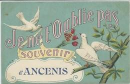 """Ancenis-Carte Fantaisie-Souvenir D'Ancenis-""""Je Ne T'oublie Pas""""-(CPA) - Ancenis"""