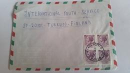 ITALIA 1974 - (406) LETTERA PER LA FINLANDIA POSTA AEREA - 6. 1946-.. Repubblica