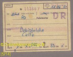 Fahrkarte (Bundesbahn) --> Duisburg - Oebisfelde Von 1970 - Europe