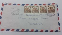 ITALIA 1984 - (420) LETTERA PER LA FINLANDIA POSTA AEREA - 1981-90: Storia Postale