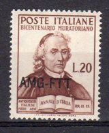 ITALY AMG FTT 1950 Ludovico Muratori SASS. 78  - NUOVO MNH** 2 SCAN - 7. Trieste