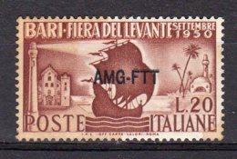 ITALY AMG FTT 1950 Fiera Del Levante SASS. 80  - NUOVO MNH** 2 SCAN **MACCHIATO DIFETTOSO** - 7. Trieste