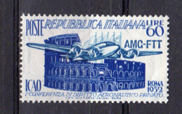 ITALY AMG FTT 1952 ICAO SASS. 155 - NUOVO MNH** 2 SCAN - 7. Trieste