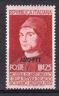 ITALY AMG FTT 1953 Antonello Da Messina SASS. 164 - NUOVO MNH** SEE SCAN - 7. Trieste