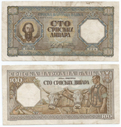 Serbia 100 Dinara 1943 Pick 33 Ref 1275 - Serbia