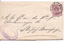 Brief Uit 1885 Vanuit Charleroi Naar Bracquegnies - Documents De La Poste