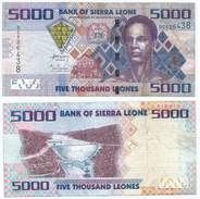 Sierra Leona 5.000 Leones 2010 Pick 32 Ref 1276 - Sierra Leona