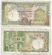Sri Lanka 10 Rupees 1990 Pick 96.e Ref 1279 - Sri Lanka