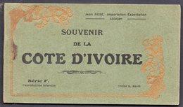 SOUVENIR DE LA COTE D'IVOIRE - Carnet 12 Cartes Très Bon état - Série F - Clichés G. Kanté - Costa De Marfil