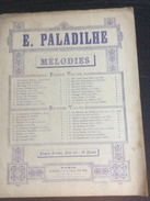 Partition : Chanson Russe, V.Cherbuliez, Musique De Paladilhe  (Au Menestrel- 3 Feuillets - Début Du Siècle Dernier - ét - Opéra