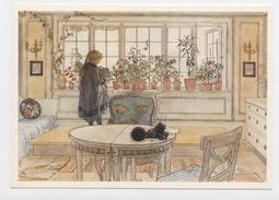 """CPM:  ART - TABLEAU DE CARL LARSSON - """"LA FENETRE FLEURIE"""" - Schilderijen"""