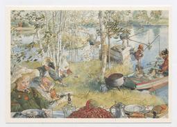 """CPM:  ART - TABLEAU DE CARL LARSSON - """"LA PÊCHE AUX ECREVISSES (OUVERTURE)"""" - Schilderijen"""