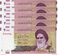 IRAN 2000 RIALS ND (2010) P-144d UNC SIGN. BAHMANI & HOSSEINI 5 PCS [IR279d] - Iran