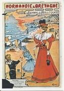 CPM Normandie Et Bretagne Chemins De Fer De L'Ouest Collection UCAD Musée De L'Affiche - Publicité