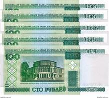 BELARUS 100 PУБЛЁЎ (RUBLES) 2000 (2011) P-26b UNC 5 PCS [BY126] - Belarus