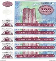 AZERBAIJAN 100 MANAT ND (1999) P-18b 5 PCS  [AZ308b] - Azerbaïjan